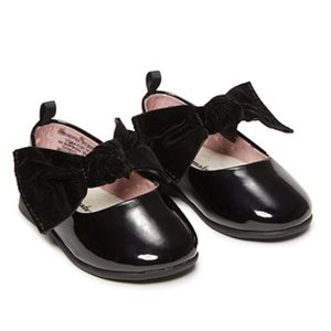 Garanimal Infant Girls Bow Dress Flats Black 4